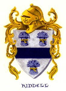 Riddle family crest